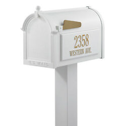 Letters Magazines Mail Metal Ground Mount Mailbox Standard Post Address Plaque