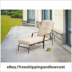 Deck Light Brown Relax Outdoor Chair 6HD PIC Patio Chaise Lounge Adjustable Back