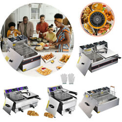 Commercial Electric Deep Fryer French Fry Bar Restaurant Tank w Basket Size Opt $69.90