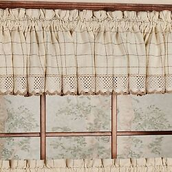 Sweet Home Collection Adirondack Curtain Tier Valance and Swag Set