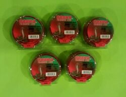 5x  STRING TRIMMER CUTTING LINE .050  1.3 mm  50 FT RED ROUND USA  5 pack