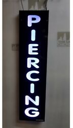 PIERCING SIGNLED Light box Sign white color  12x48x1.75 inc $230.00