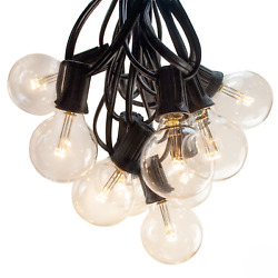 G40 LED Warm White Outdoor Patio Globe String Lights (25' 50' and 100' Lengths)
