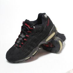 $380 NEW VINTAGE NIKE MAX 95 BLACK COMET RED MEN US SZ 7.5