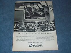 1964 Chrysler 300 Vintage Ad quot;She May be the Champion Back Seat Driver...quot; $9.99