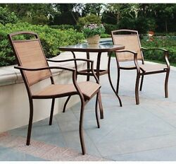 Bistro Set Outdoor Patio Furniture 3 Piece Table and 2 Chairs Patio Deck Pool