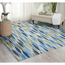 Waverly Sun N' Shade Bits and Pieces Seaglass Indoor Outdoor Rug by Nourison (7