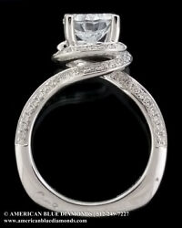 A.JAFFE .50CT TW VS1 F Semi-mount Engagement Ring (Item 7852)