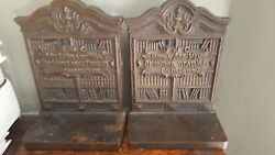 Bradley and Hubbard 1920#x27;s Vintage Bookends with Shakespeare and Browning Quotes $150.00