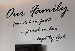 Family Vinyl Wall Decal Quote Modern Home Decor Sticker $19.99