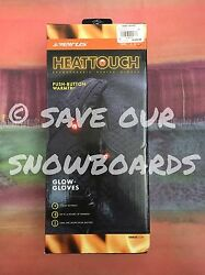 SEIRUS Heat Touch Rechargeable Heated Gloves ladies women's LARGE ski snowboard