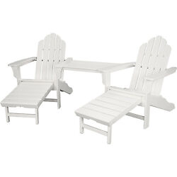 Hanover RIO3PC-OTT-WH Rio White Steel 3-piece Outdoor All-weather Chat Set with