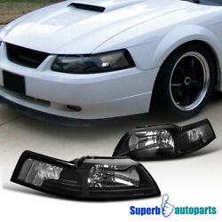 For 1999-2004 Ford Mustang Head Lights Corner Lamps Black $78.98