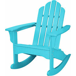 Hanover Outdoor HVLNR10AR Aruba All-weather Adirondack Rocking Chair