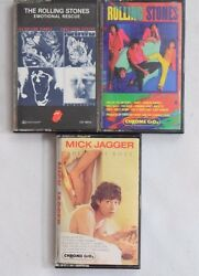 Rolling Stones Jagger Cassettes Rock Emotional Rescue She's The Boss Dirty Work