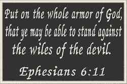 Ephesians 6:11 Iron-On Patch Christian Verse Morale Military Emblem