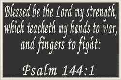PSALM 144:1 Iron-On Patch Christian Morale Military Tactical Emblem