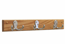 Wooden Mallet 3 Double Prong Hook Coat Rack