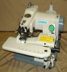 Consew 75T Table Top Blind Stitch Machine w knee lift and supplies and needles