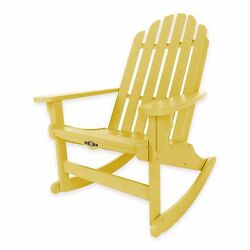 Yellow Durawood Outdoor Yard Patio Porch Pool Adirondack Rocking Rocker Chair