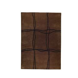 M.A. Trading Indo Hand-tufted Amsterdam Brown Wool Rug (5'6 x 7'10)