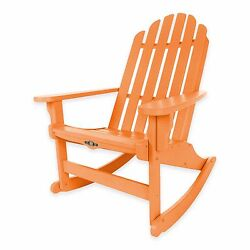 Orange Durawood Outdoor Yard Deck Porch Adirondack Rocker Rocking Chair Seat