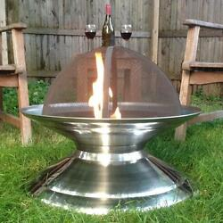 Stainless Steel Outdoor Fire Pit Poker Grate Spark Screen Included Portable