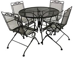 New Luxury Durable Outdoor 5 Piece Patio Dining Set with 4 pc Chair and Table