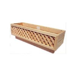 Bar Harbor Cedar Cedar Rail Planter