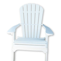 Alpine White Recycled Poly Folding Patio Adirondack Chair Home Garden Furniture