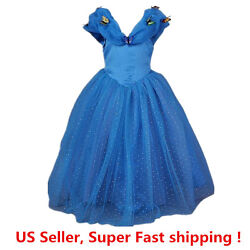 Cinderella Princess Butterfly Party Dress kids Costume Dress for girls 2 12 Y $18.98
