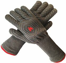 Extreme Heat Resistant Grill Oven Mitt Hot Protection Glove Cook Fireplace Set