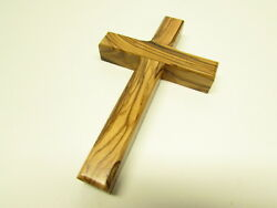 Olive Wood Christian Wall Cross Hand Made in the Holy Land Jerusalem $7.95