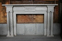 Large Adams Style Double Column Fireplace Mantel Mantle from NY Mansion Palace