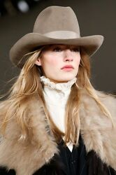 PATRICIA UNDERWOOD for RALPH LAUREN 100% WOOL MINK RANCH HAT SIZE SM MADE IN US