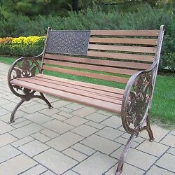 American Flag with Eagle Oakland Living Bench Patriotic Garden Patio Furniture