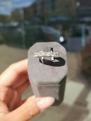 18k White Gold Shared Prong Band 1.50ct Sz5.5