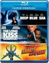 Deep Blue Sea  The Long Kiss Goodnight  Snakes on a Plane [New Blu-ray]