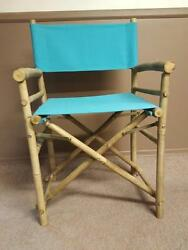 PAIR Master Garden Bamboo54 Folding REAL Bamboo Directors Chairs Canvas 3 colors
