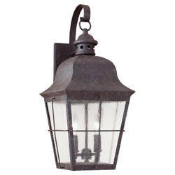 Sea Gull Lighting Colonial Styling 2-Light Outdoor Wall lantern