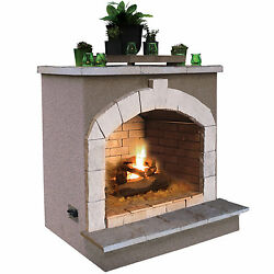 48-inch Propane Gas Outdoor Fireplace