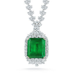 181.15 Ct Natural Colombian EMERALD AND DIAMOND  NECKLACE awe-inspiring piece