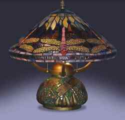 Tiffany Style Table Lamp Stained Glass Desk Art Deco Victorian Mosaic Base