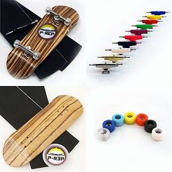 P-REP 32mm Zebra Wooden Fingerboard Complete - custom color trucks and wheels