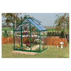 Polycarbonate Greenhouse Kit Durable Walk In Starter Plant House 6 X 4 X 7 Feet