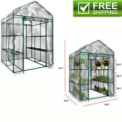Heavy Duty Walk In Green House Cover Frame Dome Kit Plant Garden Plants House