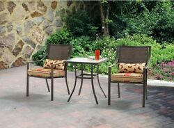 Bistro Table and Chairs 3 Piece Set Patio Furniture Garden Seat Backyard Deck