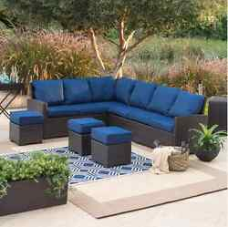 Patio Furniture Conversation Sets Outdoor Wicker Sofa Sectional All Weather NEW