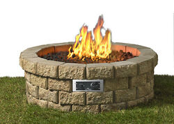 The Outdoor GreatRoom Company Hudson Propane Fire Pit Kit Set of 50