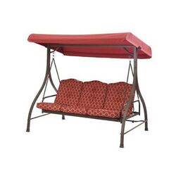 Patio Swing With Canopy Outdoor Yard and Porch Furniture Adult Three Seat Adult